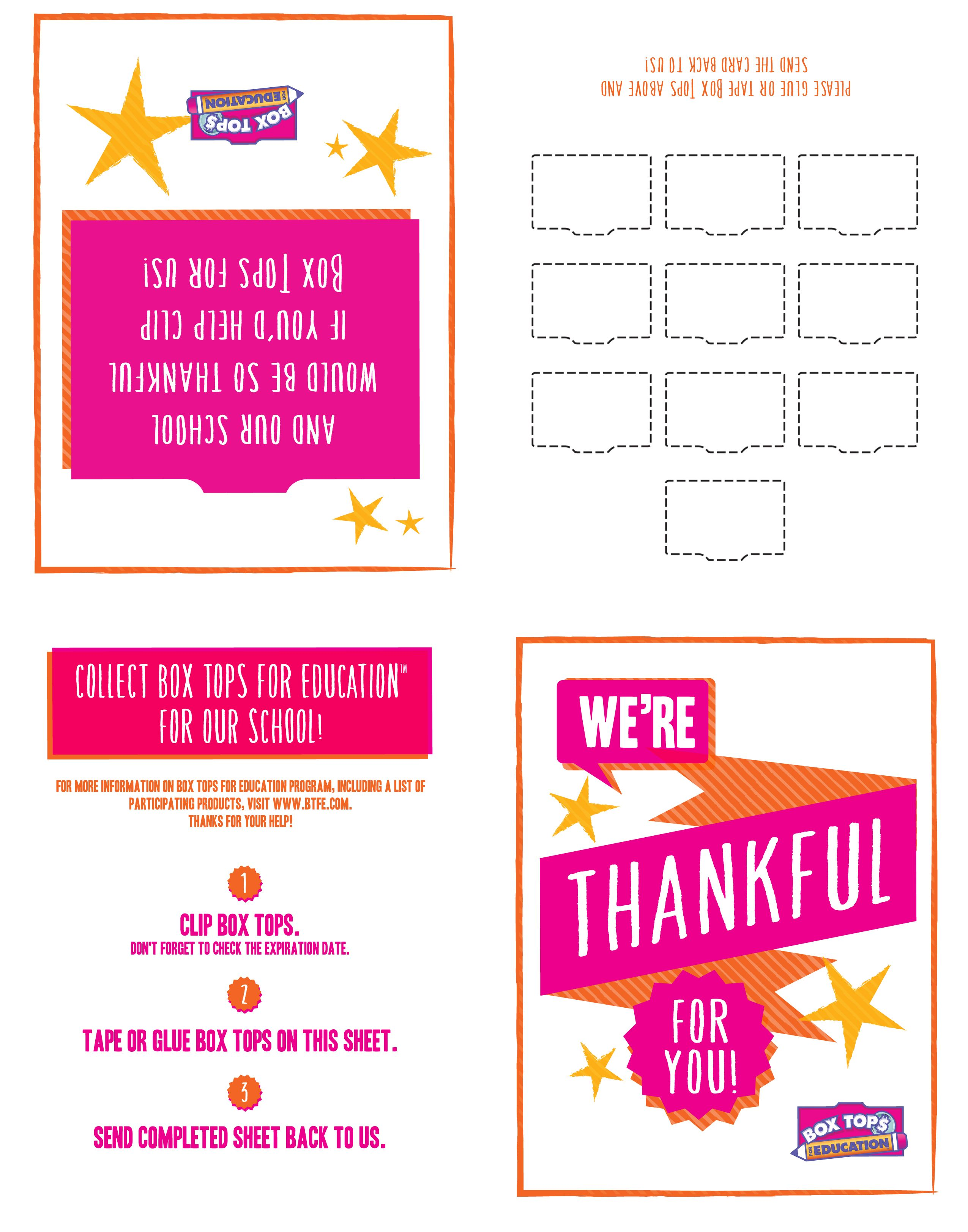 Just Print It Fold It And Share It This 10 Count Thank You Card Collection Sheet Is A Fun And