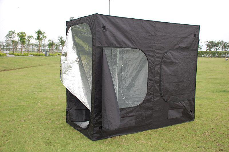 Grow Tent Portable Box Silver Mylar Hydroponics 240x120x200cm Metal Connectors
