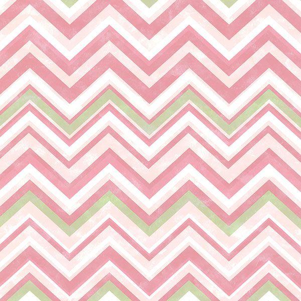 Susie Pink Chevron #pinkchevronwallpaper
