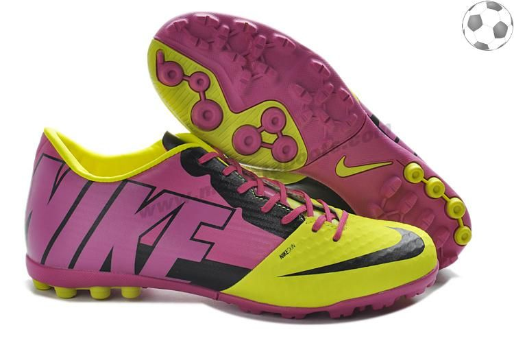 Purple Yellow Black Nike FC247 Bomba Finale II