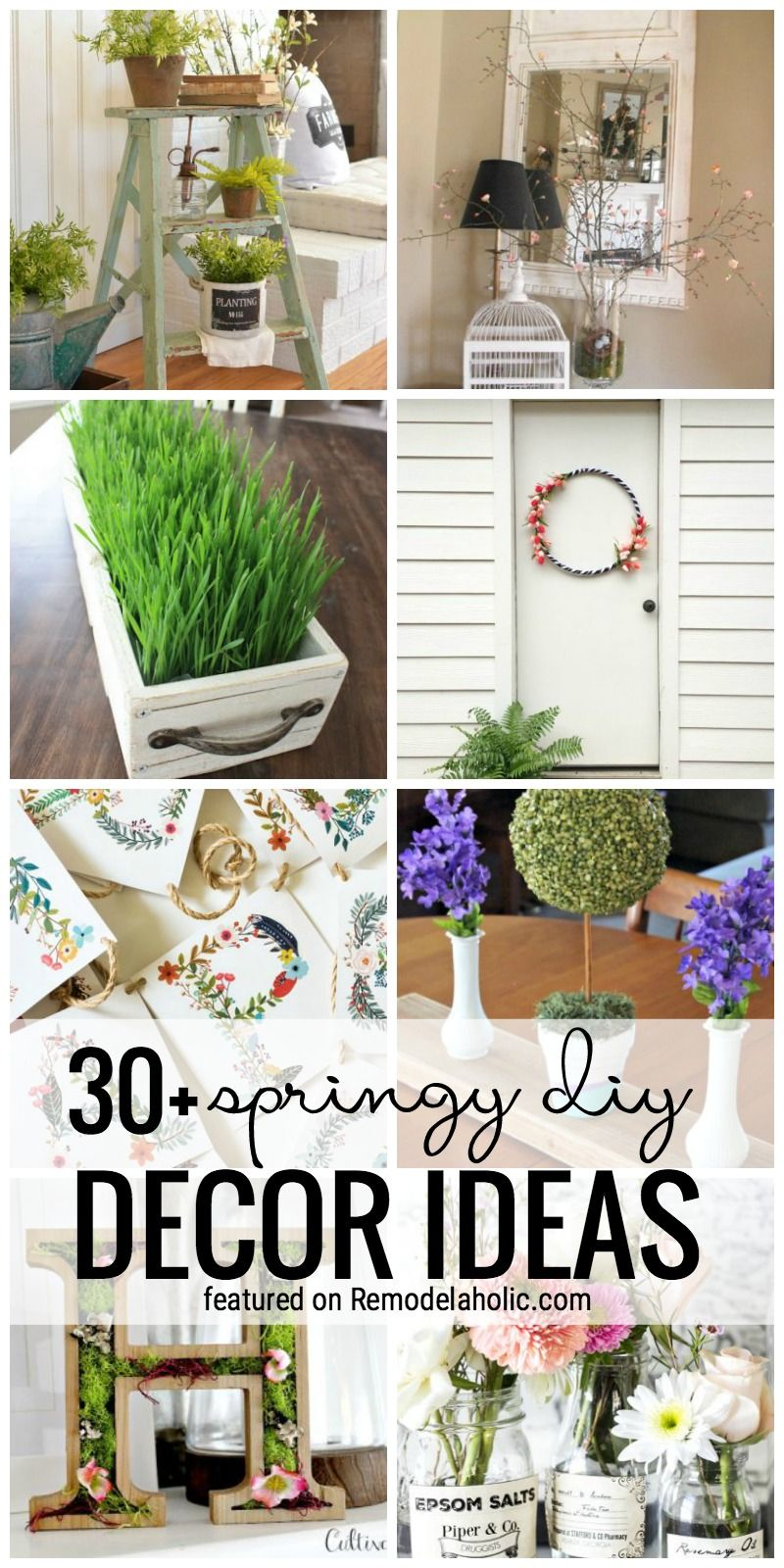 Garden decor craft ideas   Springy DIY Decor Ideas  Decorating Wood projects and Farm house