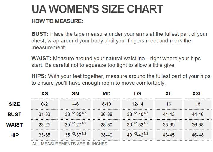 Image Result For Under Armour Womens T Shirt Size Chart Women S