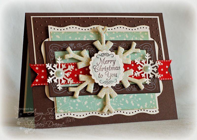Glittered Chipboard Snowflake Amy Sheffer