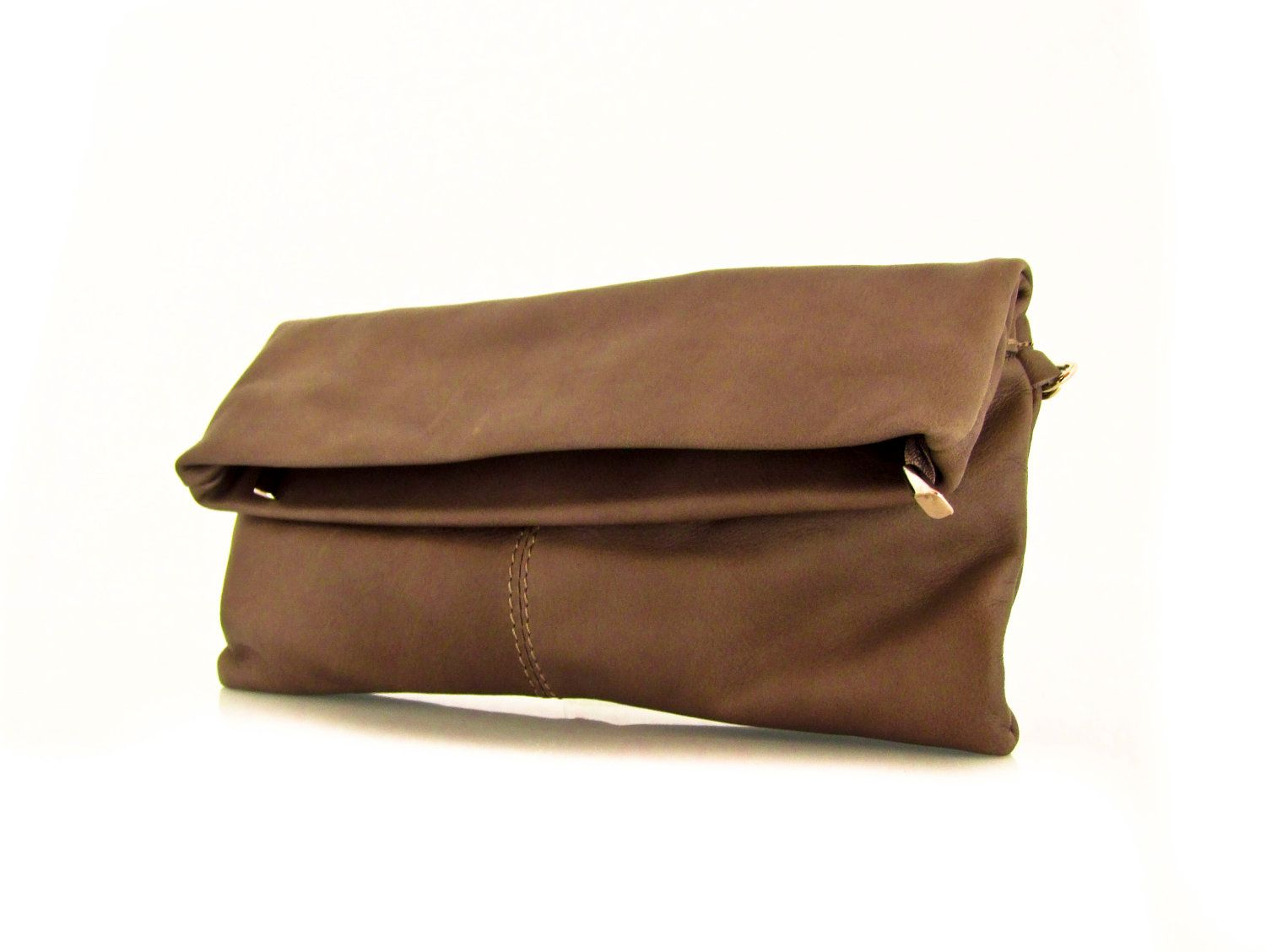 Handmade Leather Clutch Bag in Soil  -.- the Fold -.- new collection. $83.00, via Etsy.