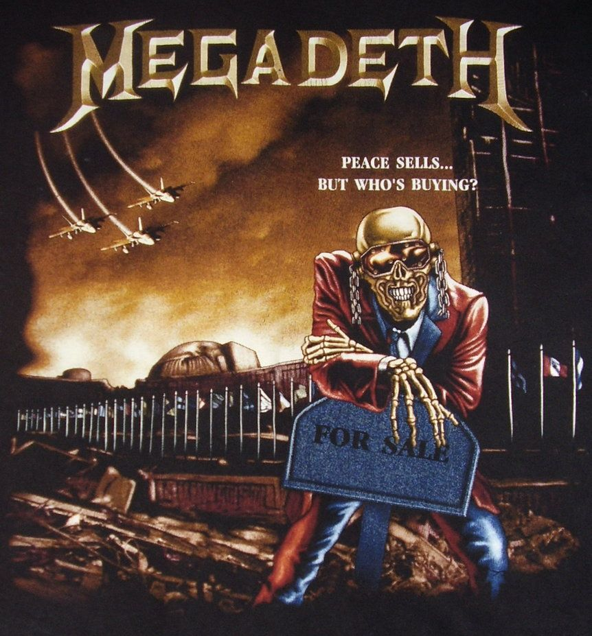 Re Painted Megadeth Peace Sells Album Cover Art Black Metal Art Heavy Metal Art
