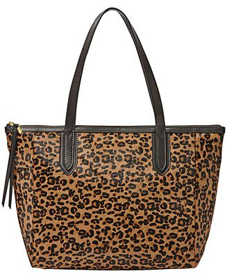 8f3ed362231 Fossil Sydney Leather Haircalf Shopper - Fossil Handbags - Handbags    Accessories - Macy s  248 on sale for  185.99