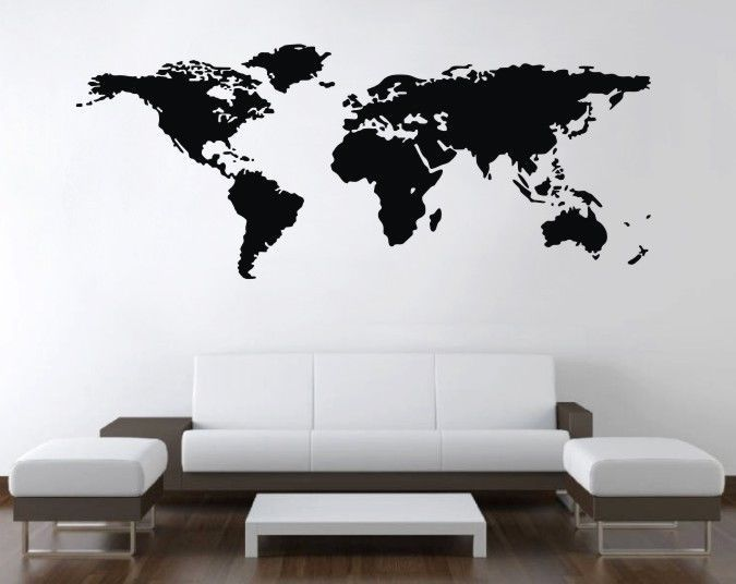 World map wall art vinyl decal stickers home decor removable mural world map wall art vinyl decal stickers home decor removable mural free postage gumiabroncs Image collections