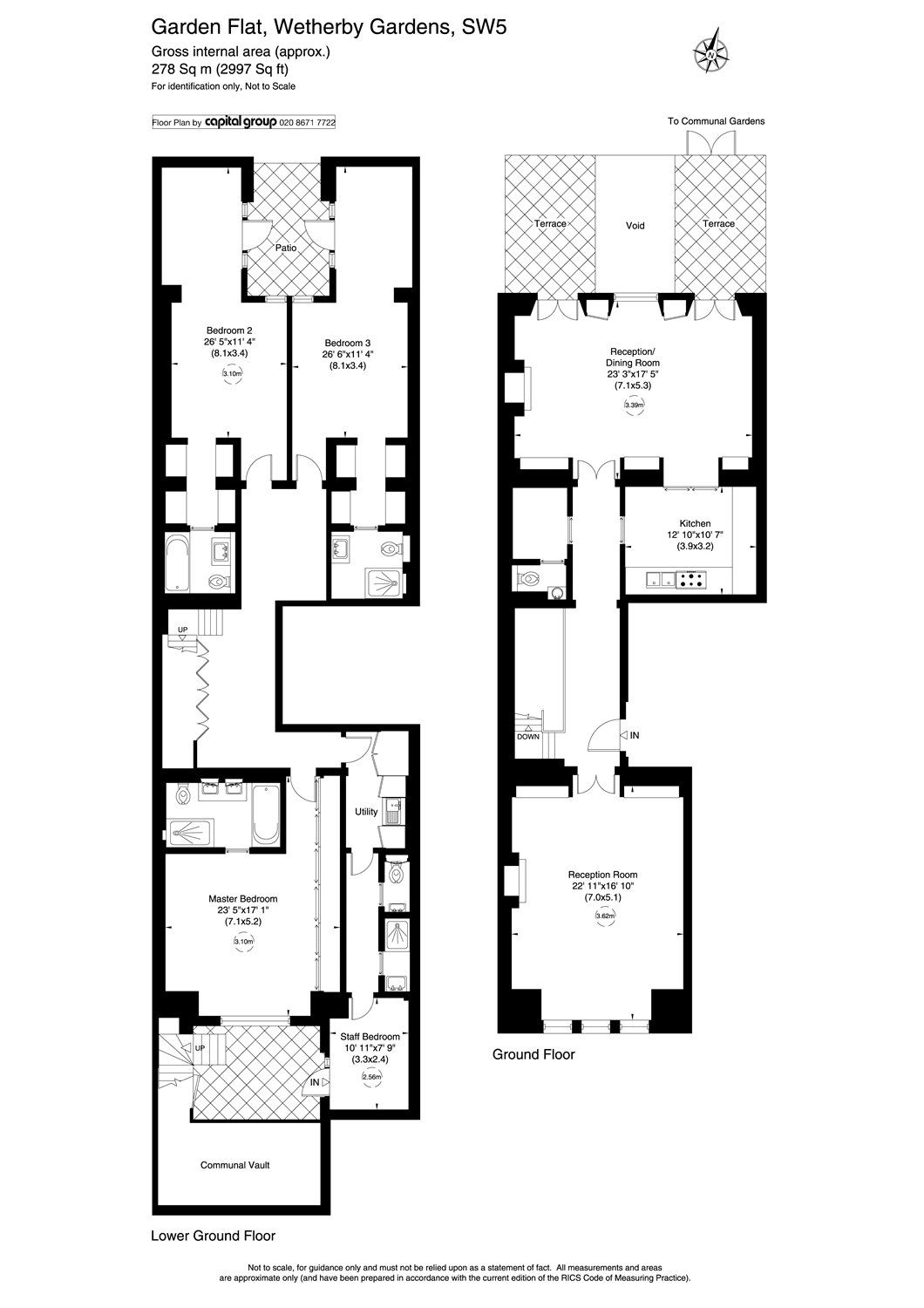 Flat for sale - 4 bedrooms in Wetherby Gardens, South ... London Kensington Homes Floor Plans on shop floor plans, london home rentals, london apartments floor plans, london flat floor plans, london home architecture, london home design, london home construction,