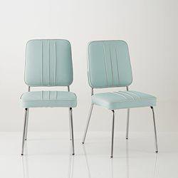 chaise retro usa acier chromé et cuir synthétique la redoute ... - Chaise Retro Pas Cher