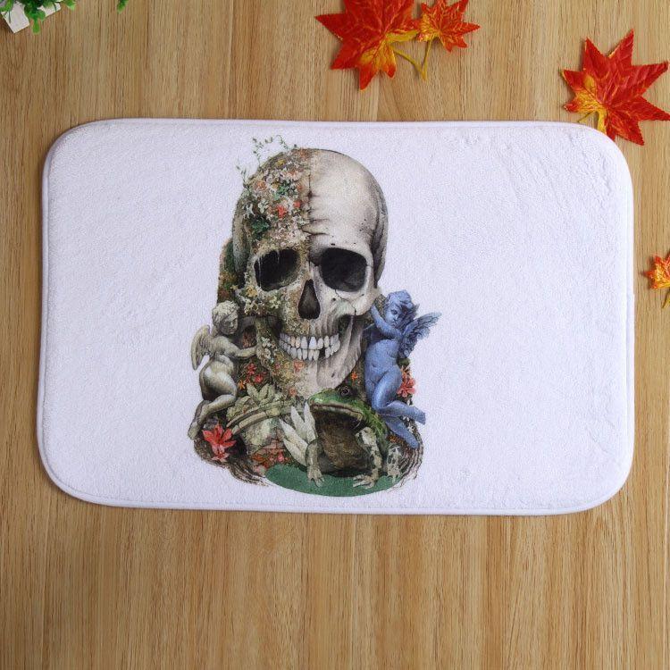 Skull printed Mats Floor Living Room Slip-resistant Door mat