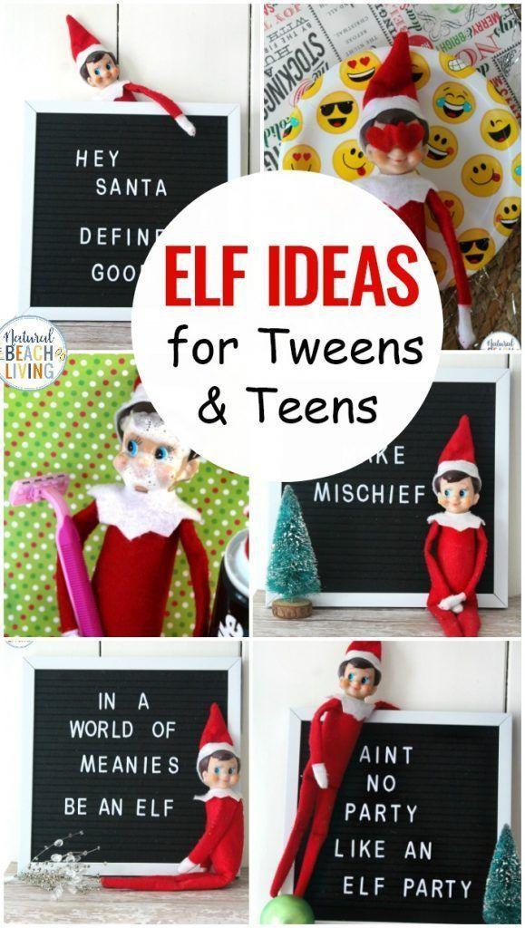 12+ Elf on the Shelf Ideas for Teens and Tweens - Natural Beach Living ,  #Beach #Elf #elfontheshelfideasfortoddlershome #ideas #Living #Natural #Shelf #Teens #Tweens
