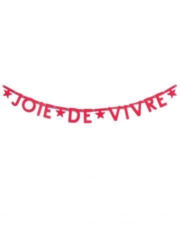 Joie de Vivre Banner - to hang up