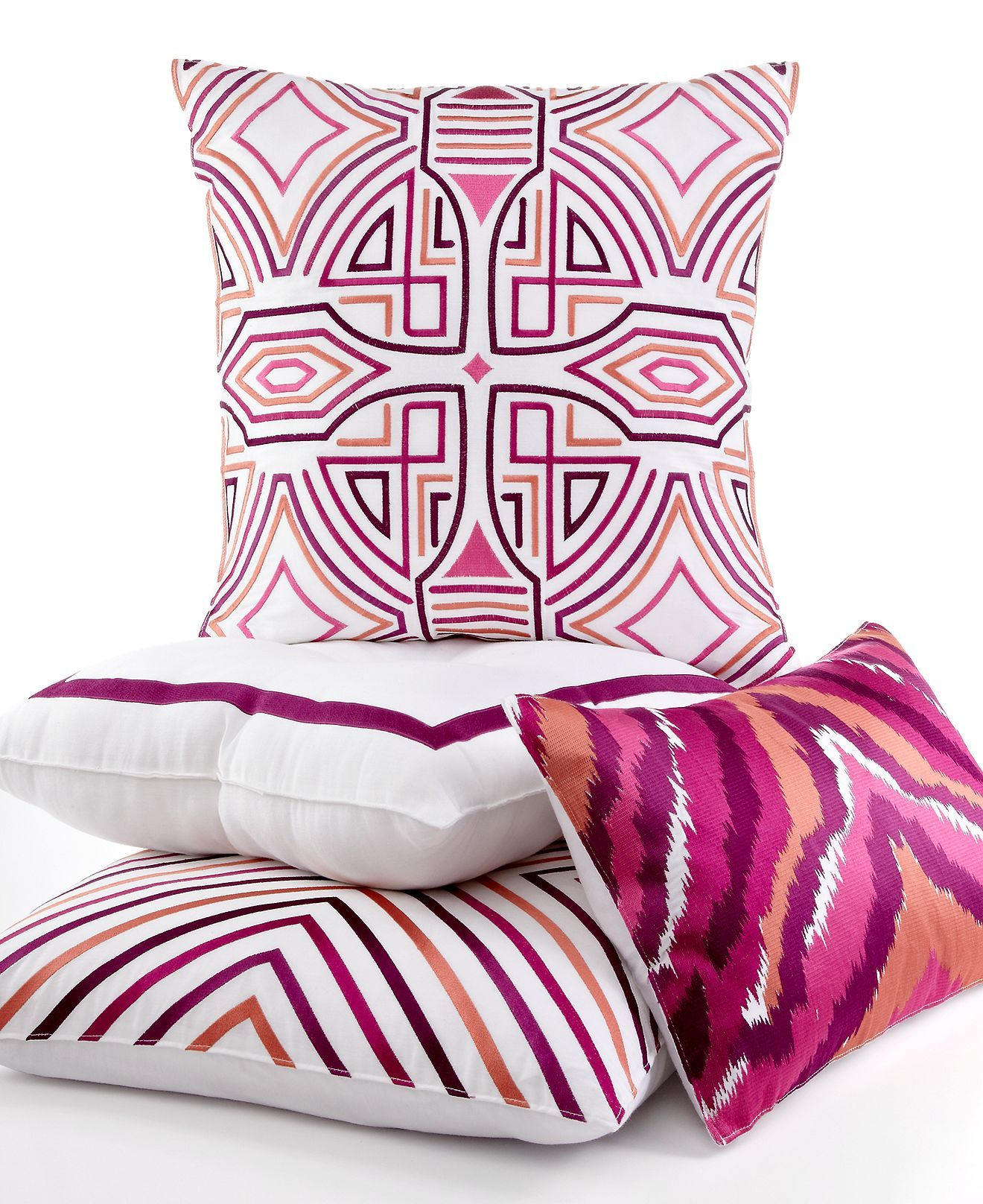 Trina Turk Bedding Ikat Purple Decorative Pillows Purple Decorative Pillows Trina Turk Bedding Decorative Pillows