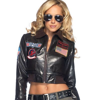 Leg Avenue Tg83701 Top Gun Women S Bomber Jacket 4 Pc Costume Set