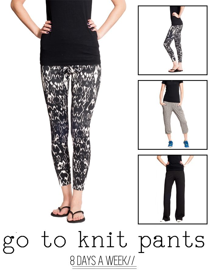Go To Knit Pants | sewing | Pinterest | Knit pants, Sewing patterns ...