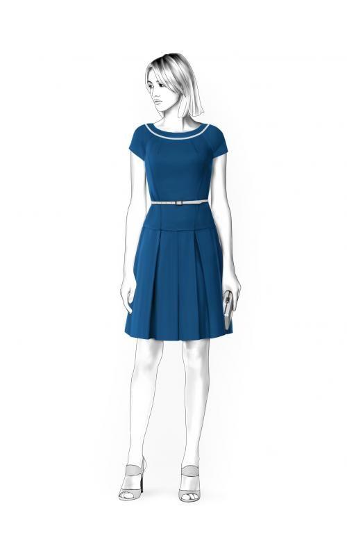Kleid - Schnittmuster #4531 Maßgeschneiderte Schnittmuster von ...