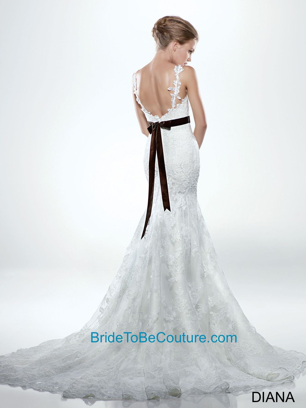 Wedding dress sacramento  ENZOANI  We love the dainty back on this wedding gown with a black
