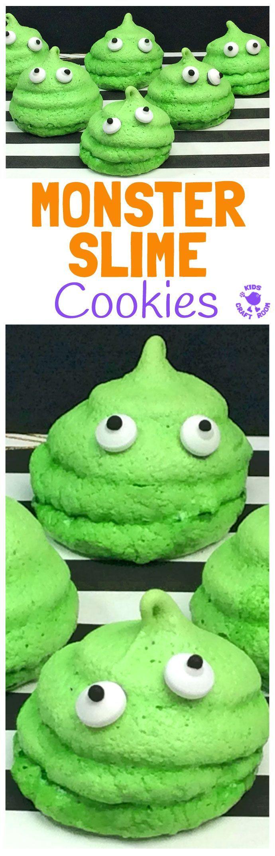 Monster Halloween Cookies: Halloween Monster Slime Cookies
