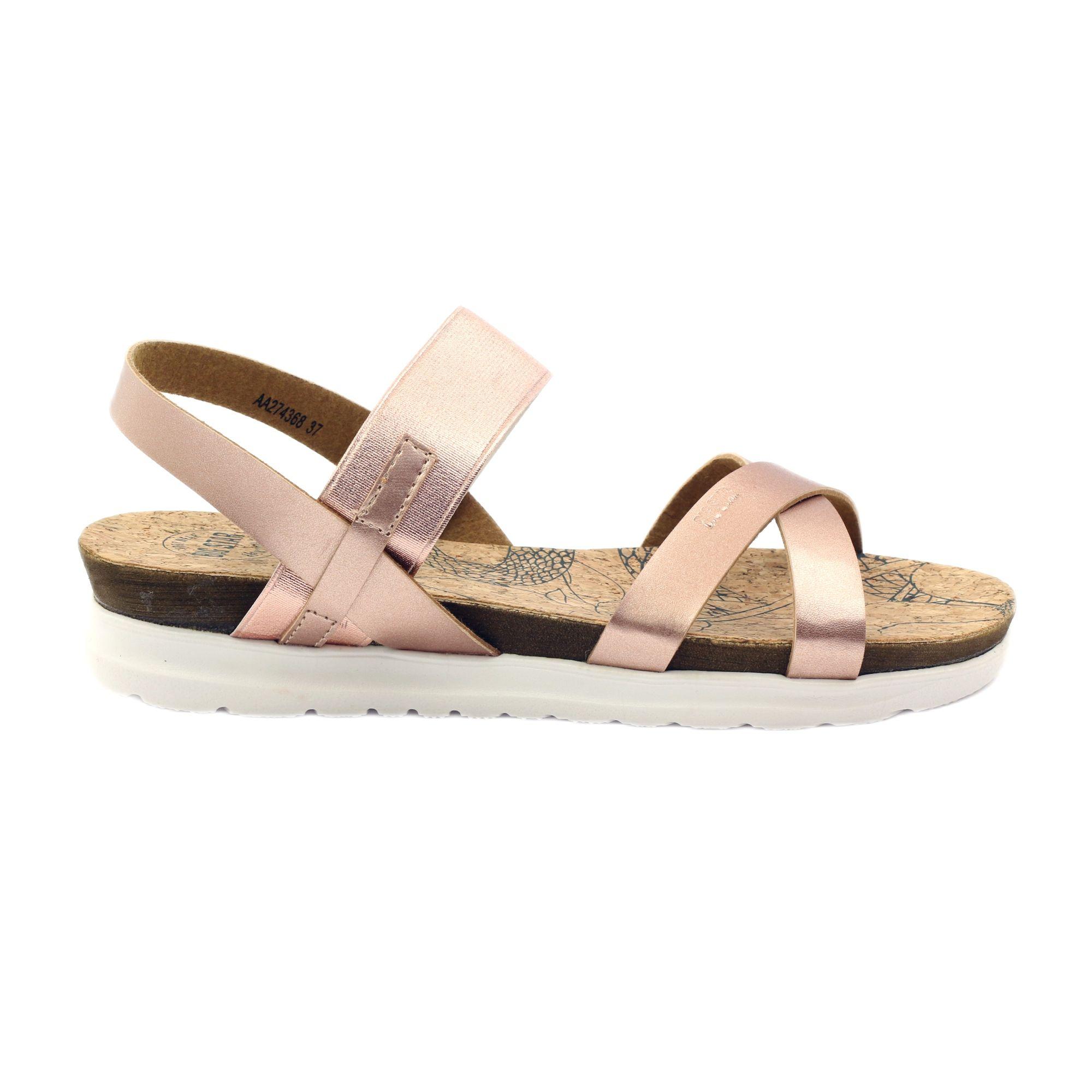 Sandaly Damskie Korek Big Star 274368 Rozowe Womens Sandals Sandals Star Shoes