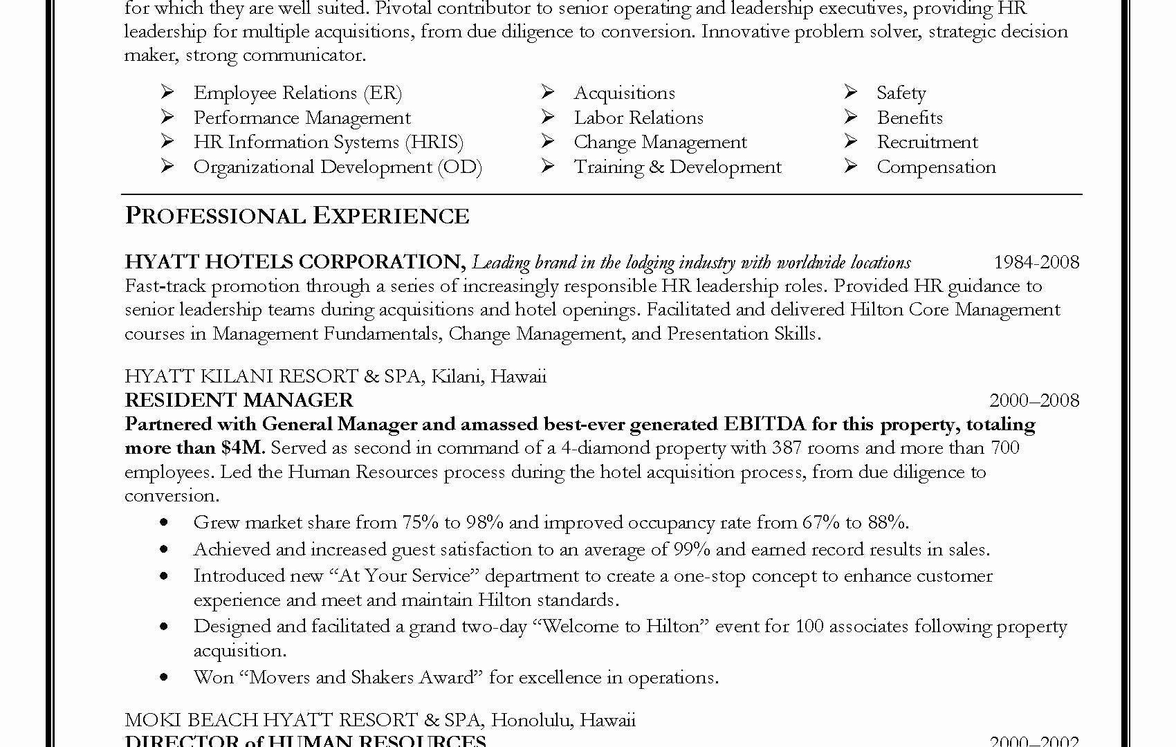 Assistant manager resume sample awesome hr director resume
