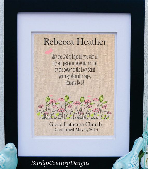 Confirmation gift for girl girls confirmation bible verse confirmation gift for girl girls confirmation bible verse romans 1513 confirmation negle Images