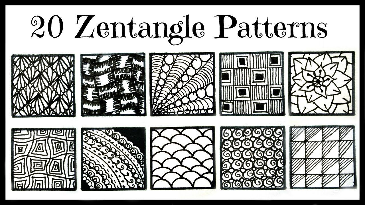 Easy 20 Zentangle Patterns For Beginners Youtube Zentangle