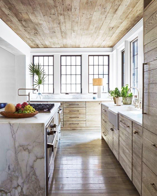 Wonderful 9 Noteworthy Rustic Wood Ceilings | COCOCOZY. Black KitchensModern  KitchensDecor ...