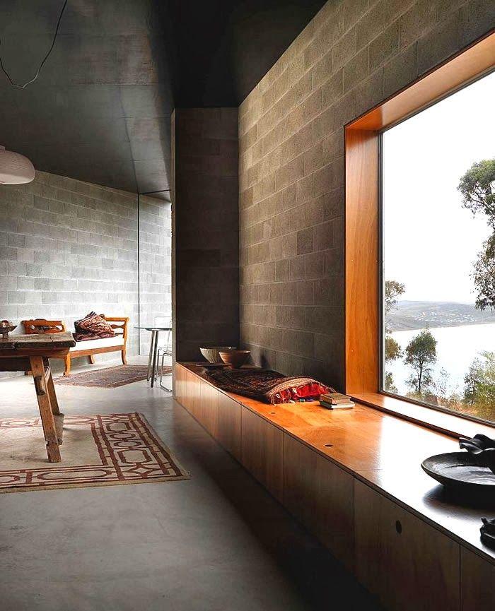 Casas Modernas Bloques Cemento Fachadas Gris Buscar Con