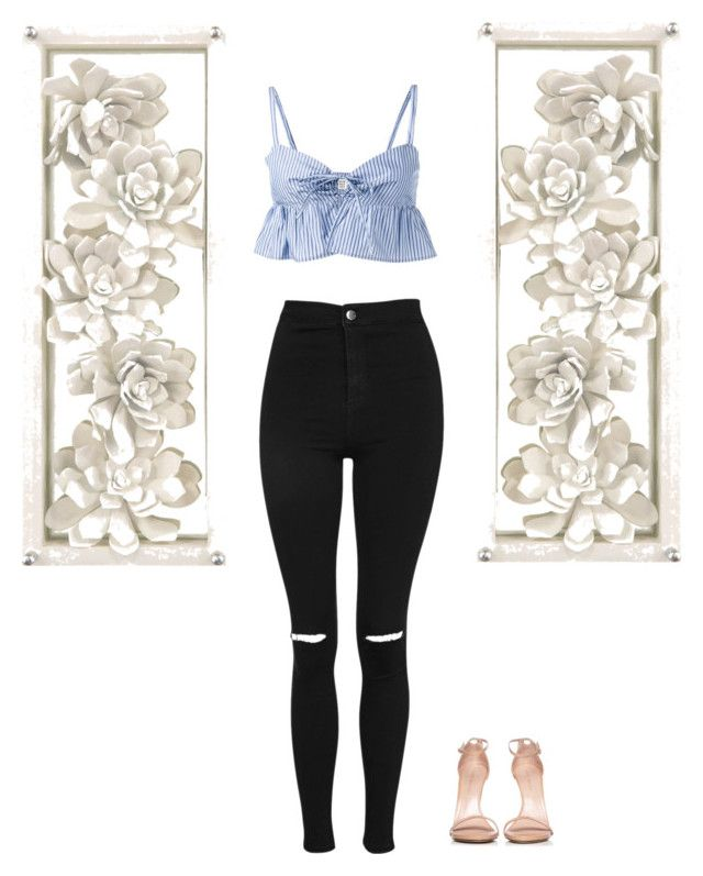 """Fancy Seeing You Here"" by alyroxmaxxx ❤ liked on Polyvore featuring Topshop, Maryam Nassir Zadeh and Stuart Weitzman"