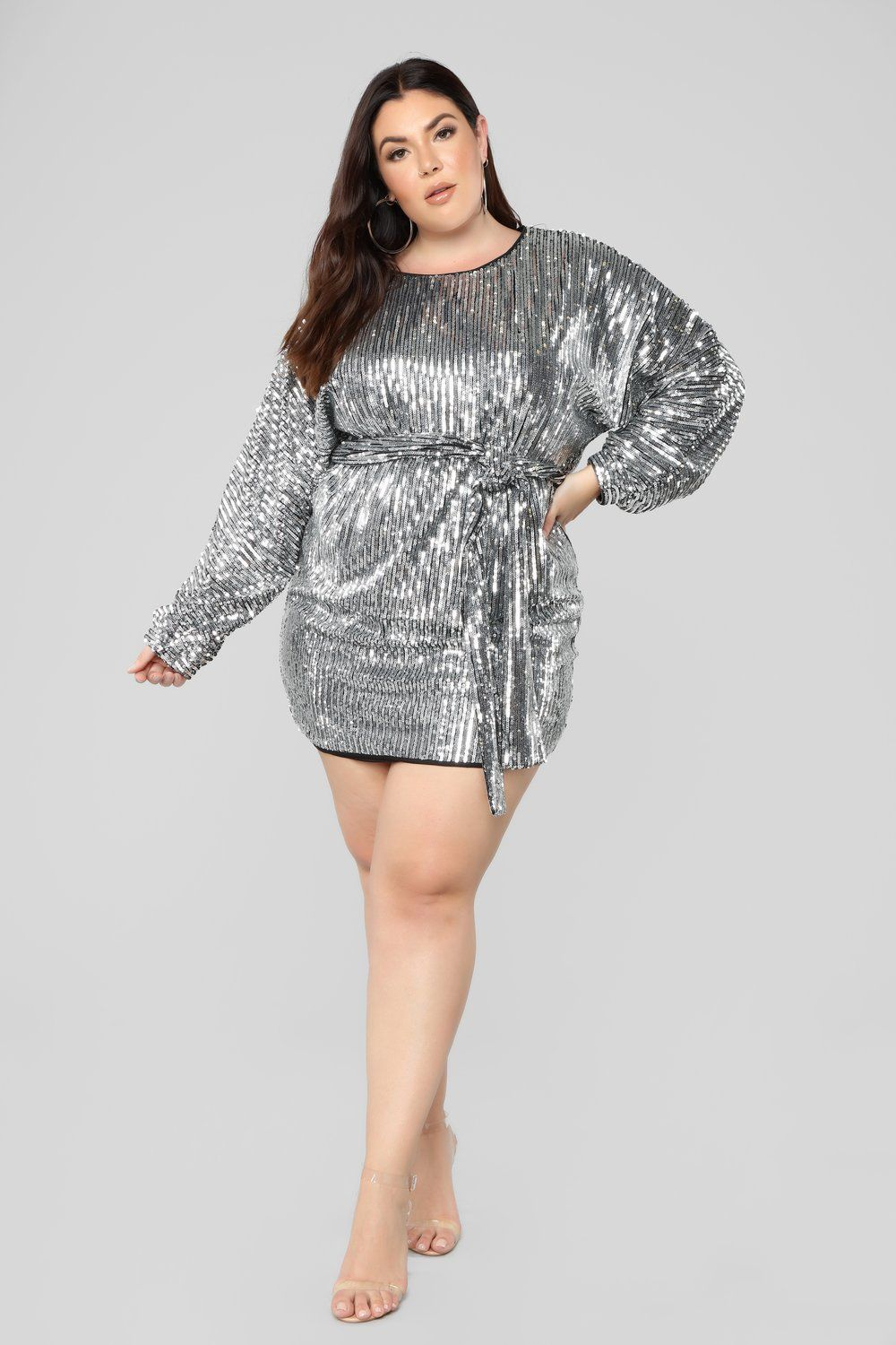 Where\'s The Party At Sequin Dress - Silver in 2019 | Silver ...