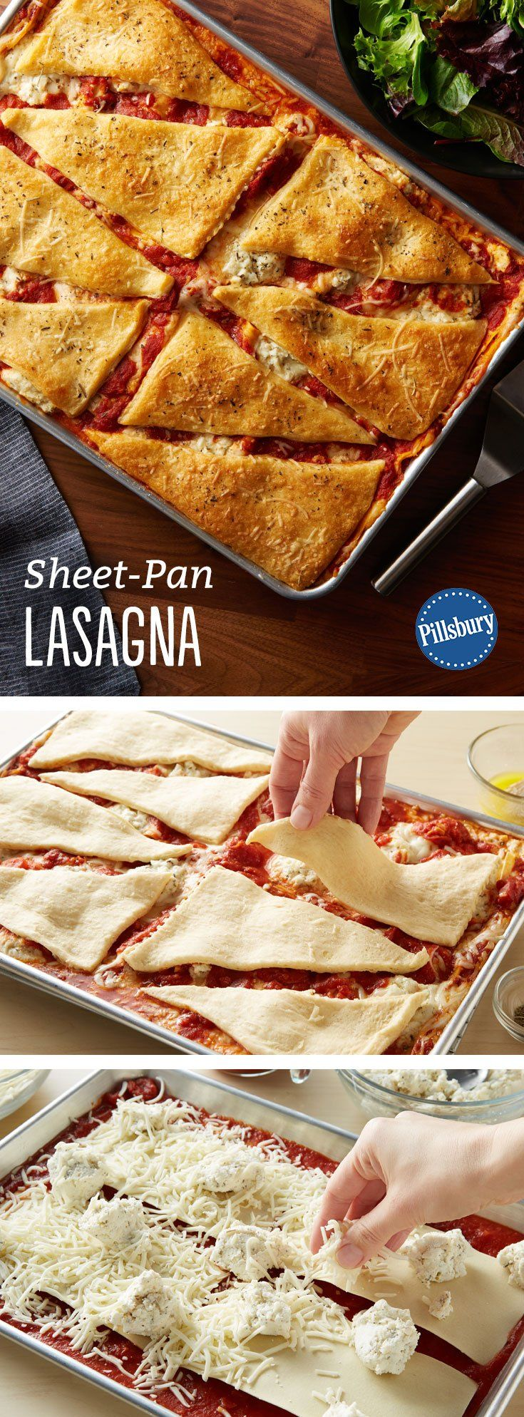 sheet pan lasagna recept recepty