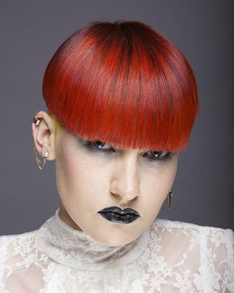 By Sarah Cowzer Haircut Hairdesign Hairstyle Bowlcut