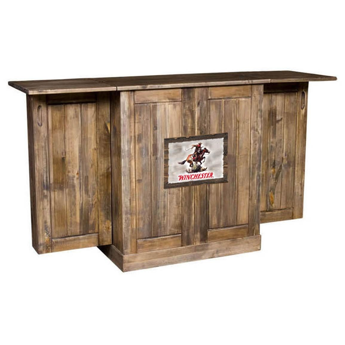 Portable Bars For The Home: Nice Rustic Looking Portable Bar, Could Just Cover The