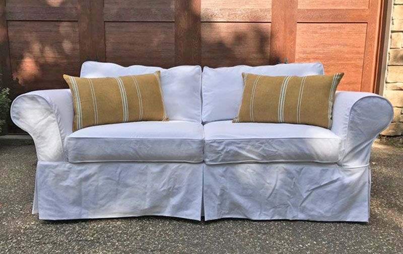 Should I Keep My Big Old Sofa Or Replace It White Slipcover