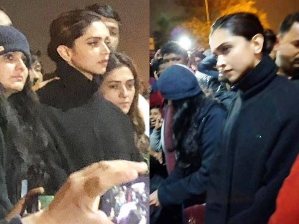 Deepika Padukone Visits Jnu To Lend Her Support To The Students Student Supportive Visiting