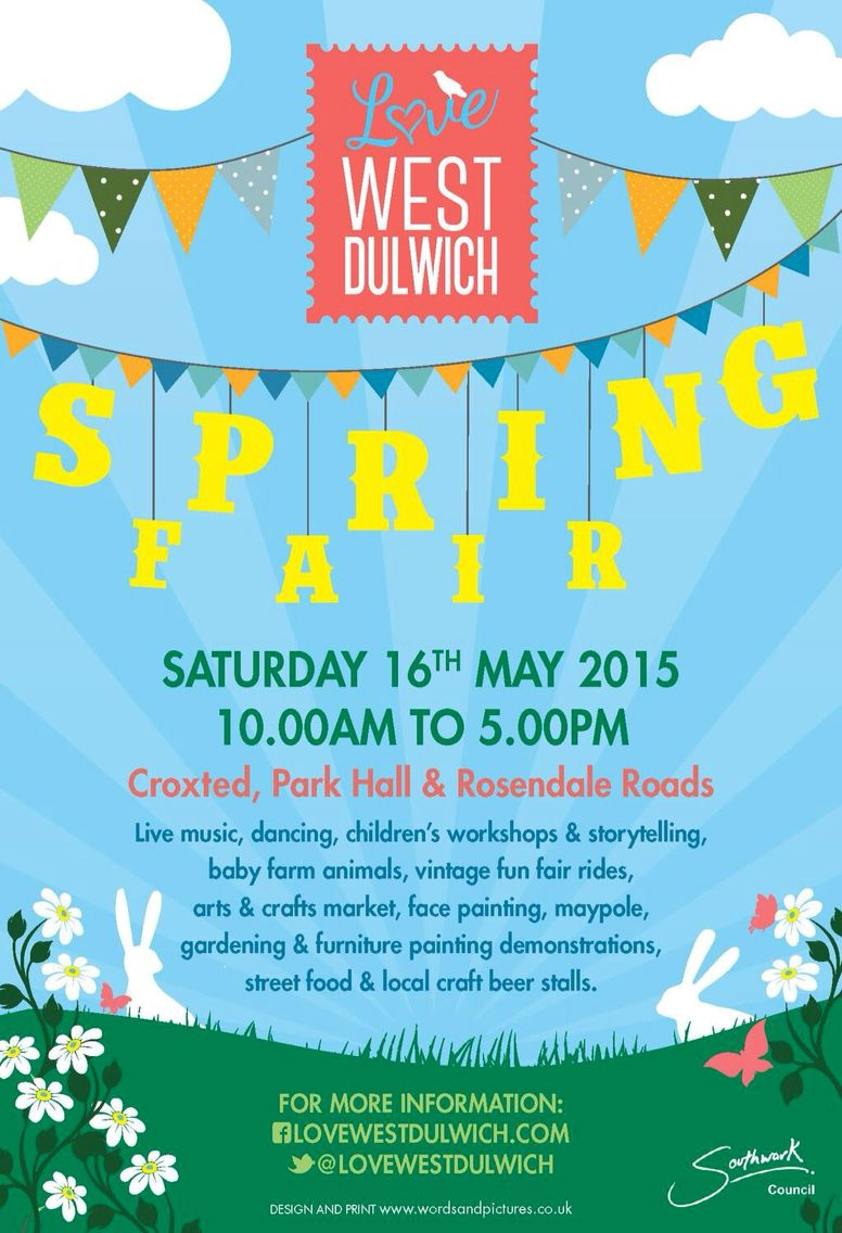 The LoveWestDulwich Spring Fair - Sat 16th May 2015