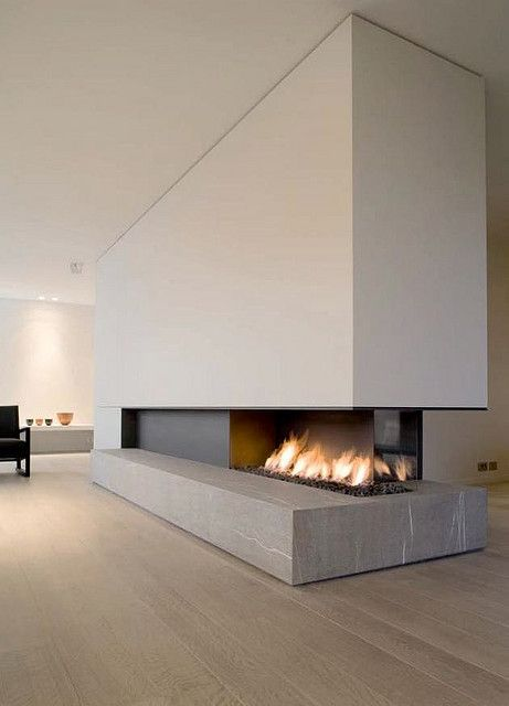 Modern Wood Burning Fireplace Design