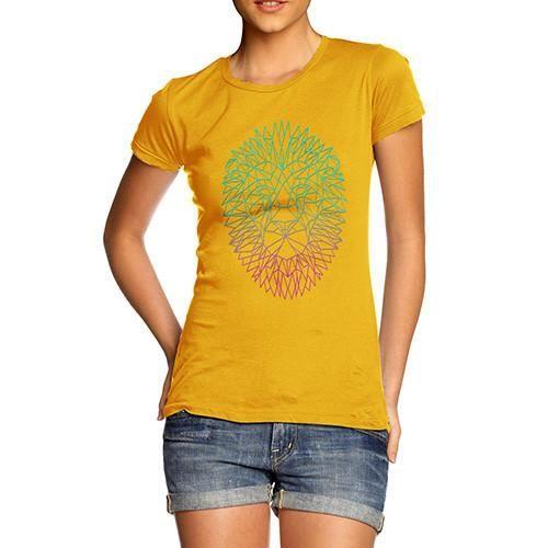 Women's Geometric Lion T-Shirt