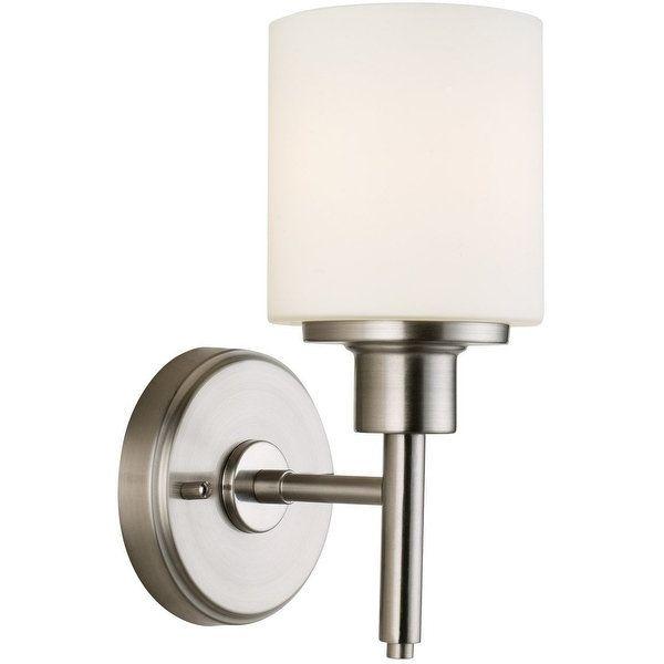 Design House 556183 Aubrey Indoor Wall Mount 1-Light Fixture, Satin Nickel | Overstock.com Shopping - The Best Deals on Sconces & Vanities