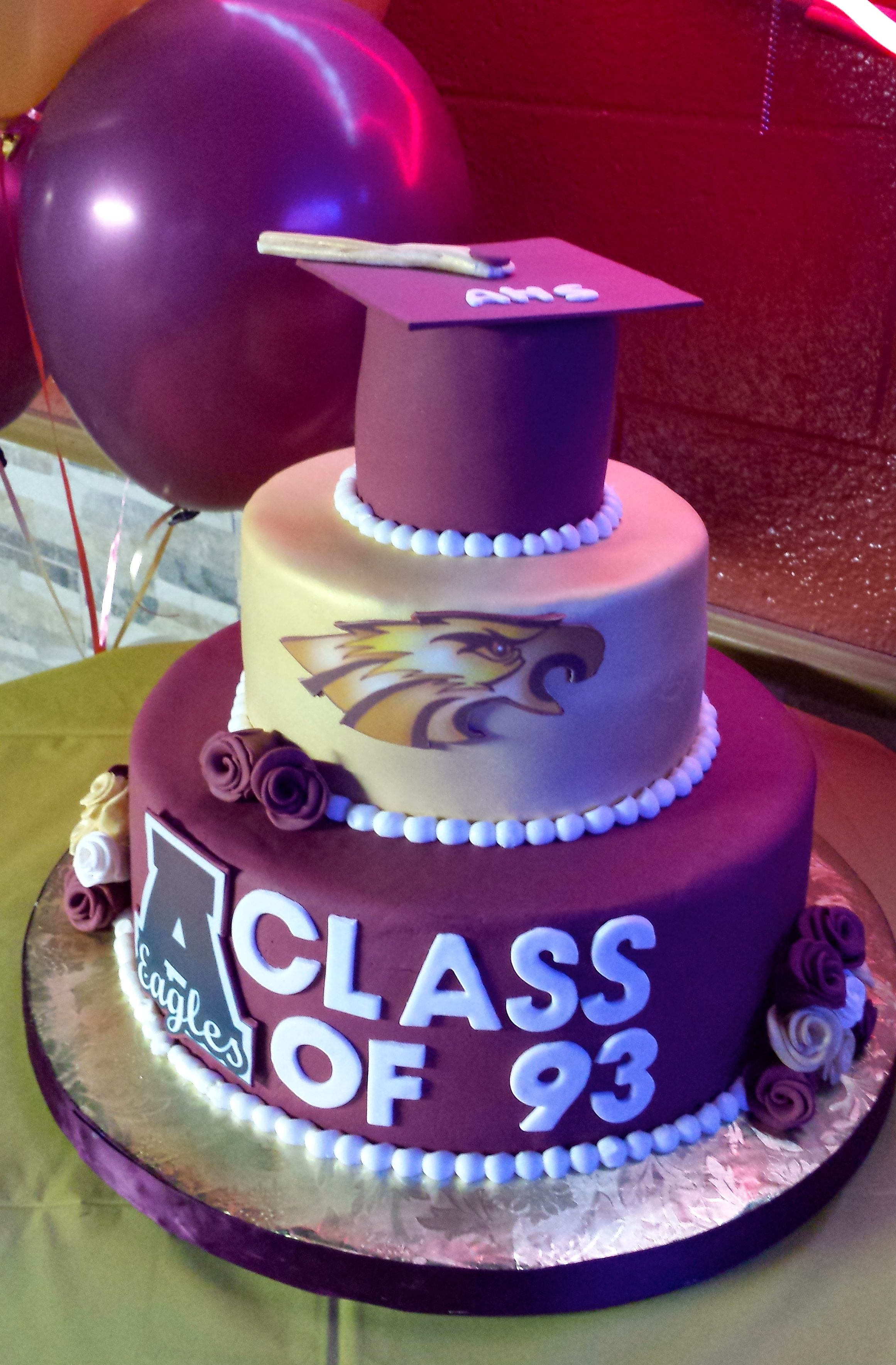 20 Year High School Reunion Cake With Images High School Class