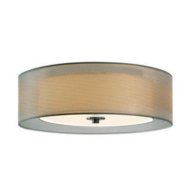 Sonneman 601 3 Light Puri Fluorescent Flush Mount Ceiling Light