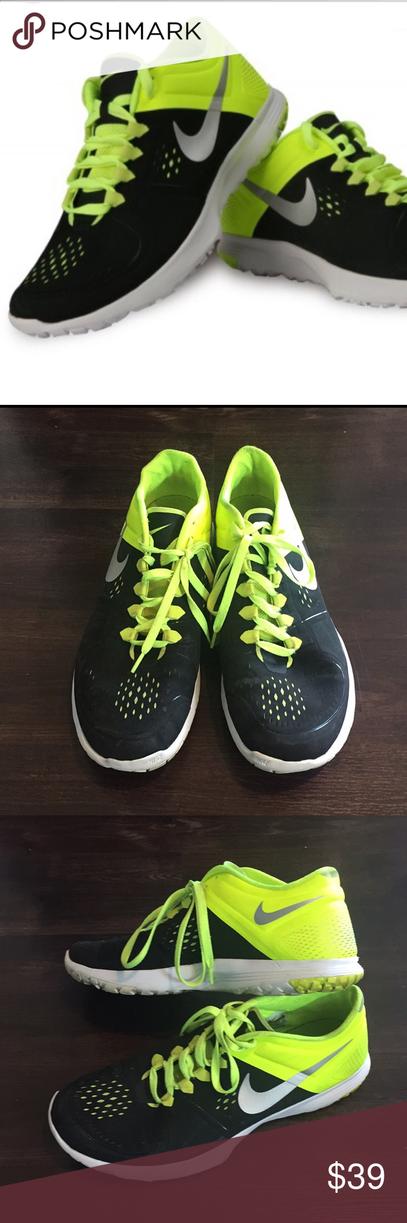 85bedc86d719 NIKE Men s Lite Training Running Shoes Great running shoe in EUC. Black lime  green  grey Nike Shoes Athletic Shoes