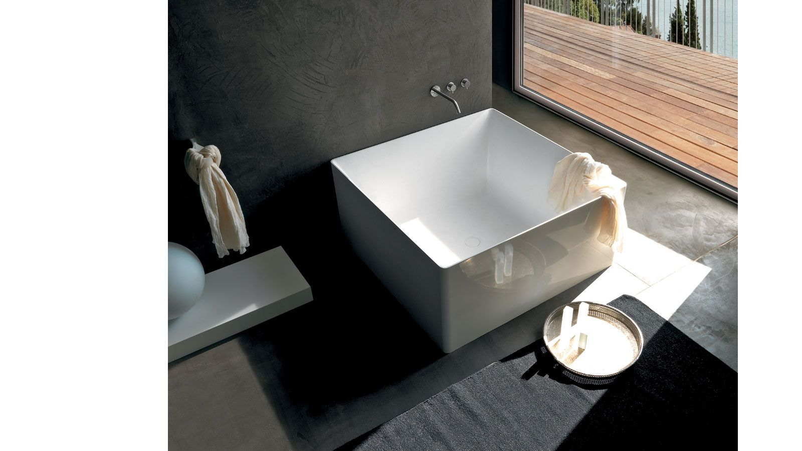 Colacril - Bathtubs: DUAL Square bathtub (polymineral) 120x120 h.55 ...