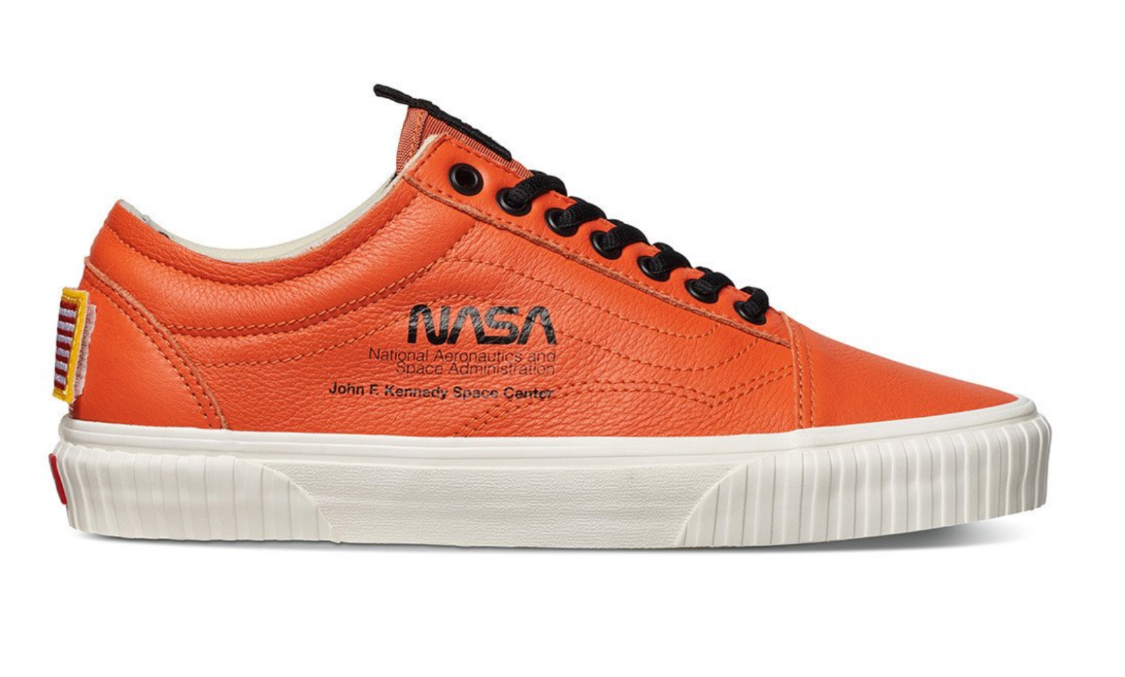 Vans Nasa Old Skool Size 9.5 Firecracker Orange Space #Voyager Brand ...