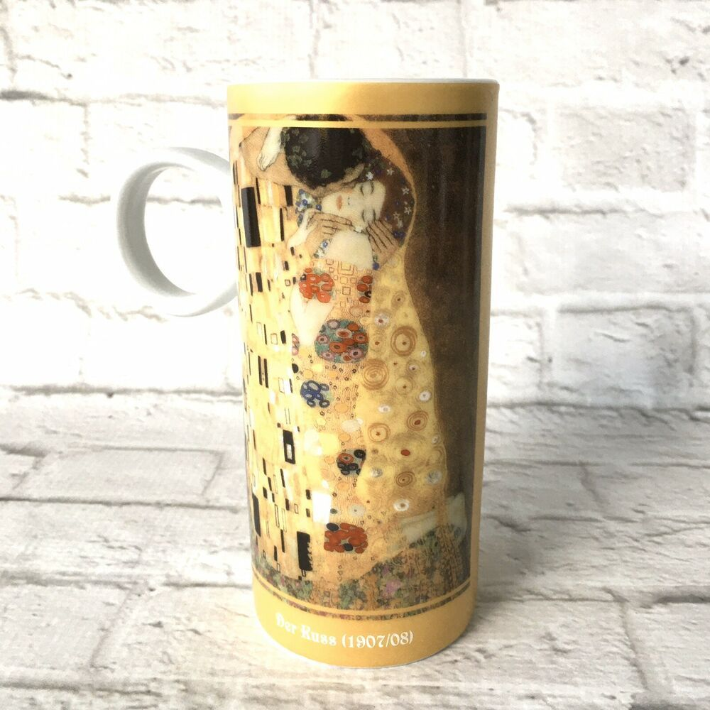 Gustav Klimt Tall Art Mug The Kiss Der Russ 1907 08 10 Oz 6 Tall Coffee Latte Konitzartcollection In 2020 Mugs Collectable Cups Best Coffee Mugs