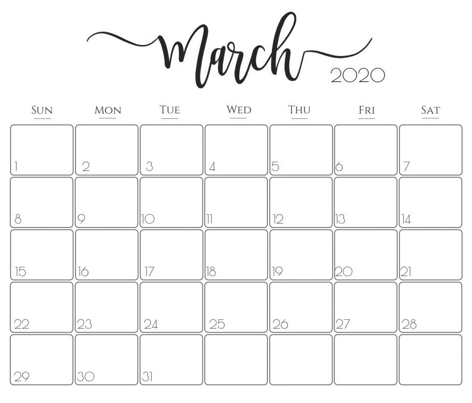 Free March 2020 Calendar Printable Template With Holidays Free Calendar Design For You March Calendar Printable Calendar Printables Print Calendar
