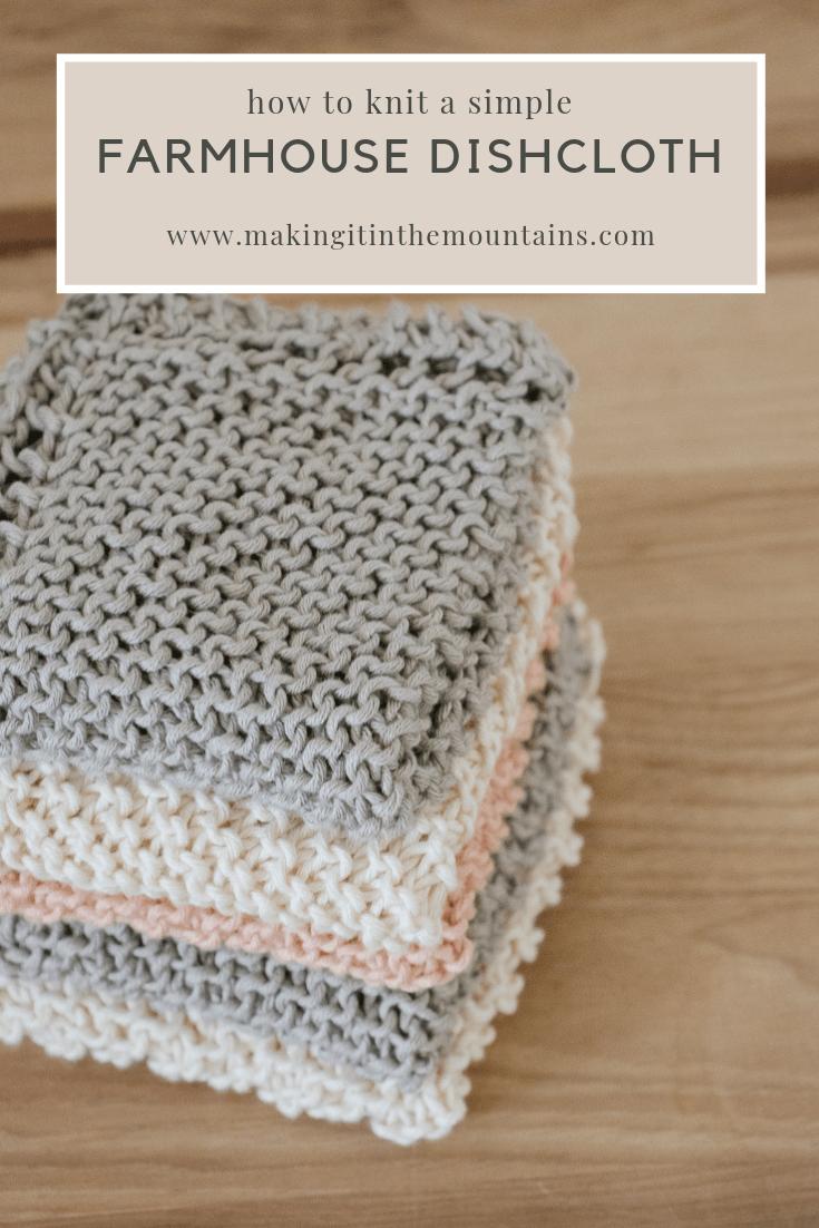 How to Knit a Farmhouse Kitchen Dishcloth