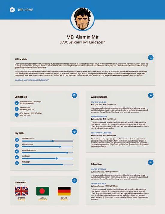 Descarga Plantilla Gratis Curriculum Vitae Creativo