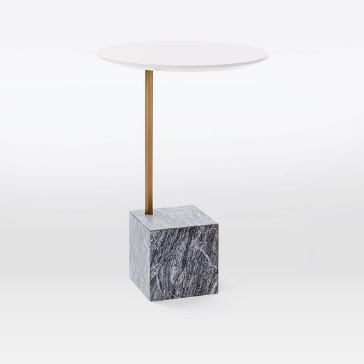 cube c side table white gray marble furniture finds cube side rh pinterest com