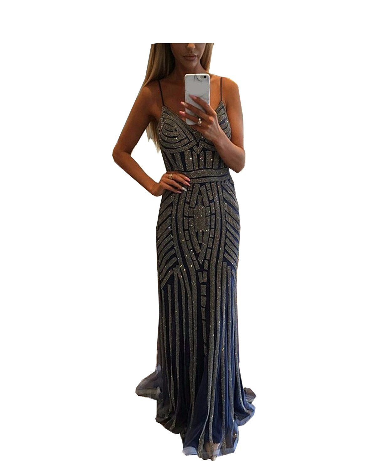 Womenus sexy pieces slit maxi evening dress learn more by